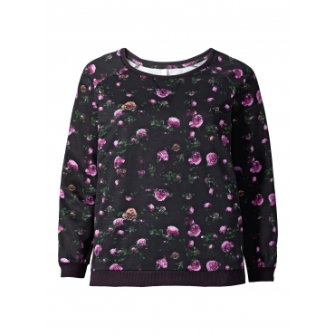 Sheego Sweatshirt Sheego anthrazit bedruckt