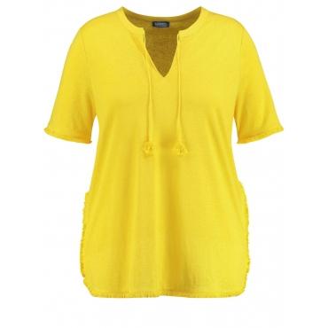 Shirt aus Baumwoll-Leinen-Mix Samoon Lemon