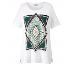 Shirt Ethno-Style mit Pailletten Angel of Style schwarz mit Muster