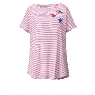 Shirt gestreift Angel of Style rot-weiß