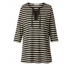 Shirt gestreift Janet & Joyce schwarz-ecru