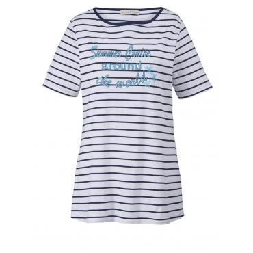 Shirt gestreift Janet & Joyce türkis-weiß