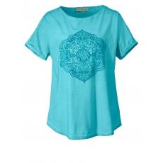 Shirt im Ethno-Style mit Mandala-Print Janet & Joyce aqua