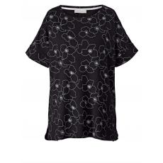 Shirt in Oversize-Form Janet & Joyce schwarz bedruckt
