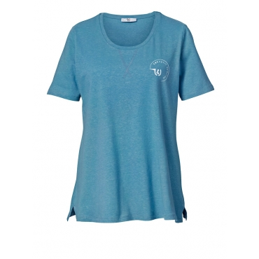 Shirt Janet & Joyce türkis-meliert