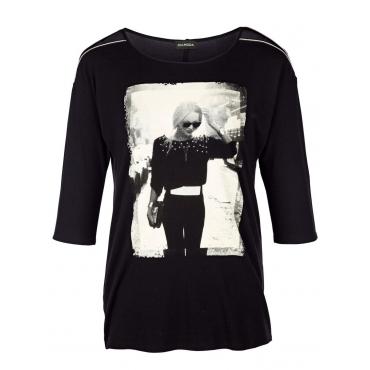 Shirt MIAMODA schwarz/weiß