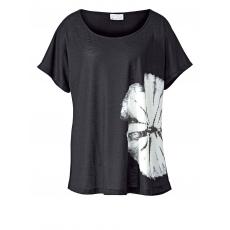 Shirt mit Batik-Print Angel of Style schwarz/weiß