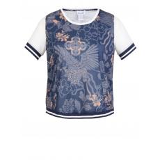 Shirt mit Blumen-Print Angel of Style gemustert