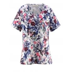 Shirt mit Blumen-Print Janet & Joyce weiß