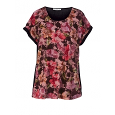 Shirt mit Blumen-Print Studio bordeaux-pink