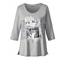 Shirt mit Foto-Print Janet & Joyce grau melange