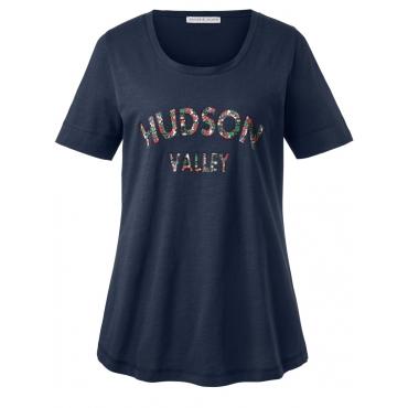 Shirt mit Frontdruck Janet & Joyce marine