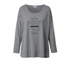 Shirt mit Frontprint Angel of Style grau-meliert