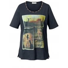 Shirt mit Frontprint Janet & Joyce marine