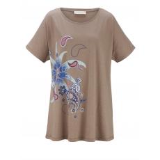 Shirt mit Frontprint Janet & Joyce taupe