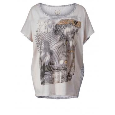 Shirt mit Frontprint OpenEnd natur bedruckt