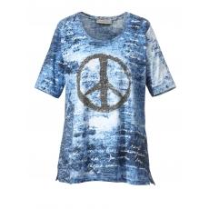 Shirt mit Glitzermotiv Janet & Joyce blau bedruckt