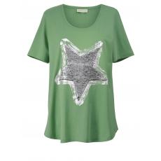 Shirt mit Pailletten Janet & Joyce grün