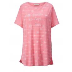 Shirt mit Pailletten Janet & Joyce lachs meliert