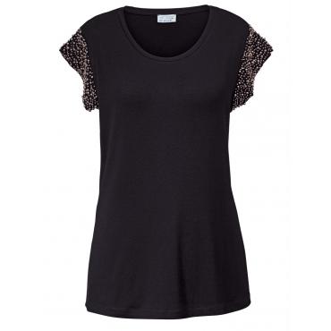 Shirt mit silbernen Perlen Angel of Style schwarz