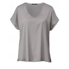 Shirt mit Spitze Sara Lindholm natur