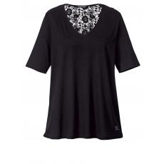 Shirt mit Spitze Sara Lindholm schwarz