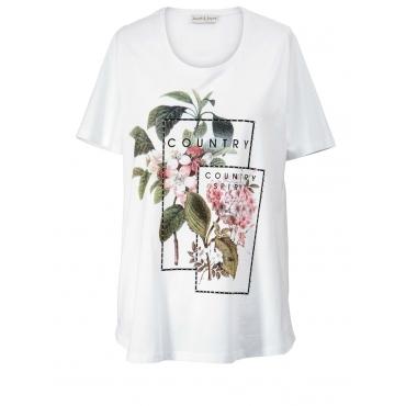 Shirt mit Strass Janet & Joyce weiß
