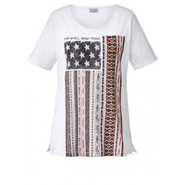 Shirt mit US-Frontprint Angel of Style weiß
