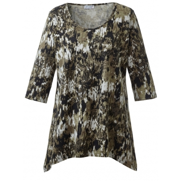 Shirt mit Zipfelsaum Angel of Style camouflage