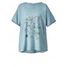 Shirt oil wash Angel of Style hellblau