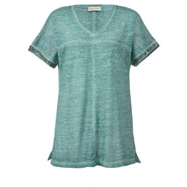 Shirt oil wash mit Zierperlchen Janet & Joyce mint oil dyed