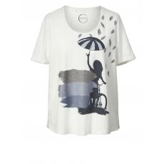 Shirt Samoon offwhite bedruckt