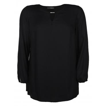 Shirtbluse mit Metall-Applikation Doris Streich schwarz