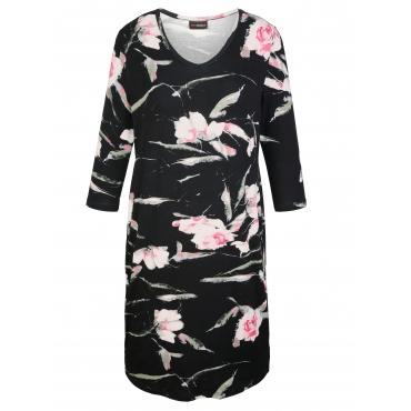 Shirtkleid MIAMODA Schwarz::Rosé