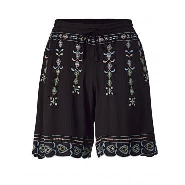 Shorts mit Stickerei Angel of Style schwarz