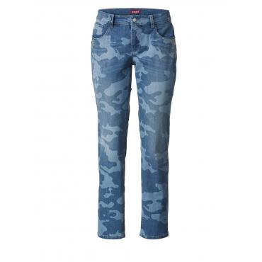 Slim Fit Jeans Camouflage mit Nieten Ascari Blau