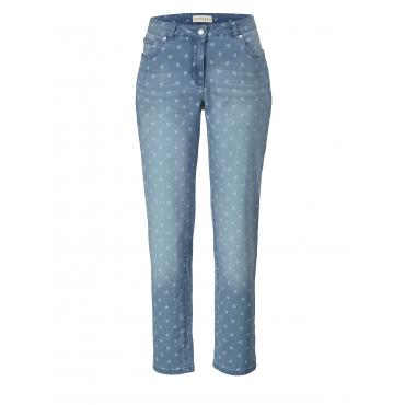 Slim Fit Jeans geblümt Janet & Joyce Hellblau