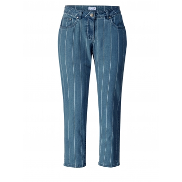 Slim Fit Jeans gestreift knöchellang Angel of Style Denim