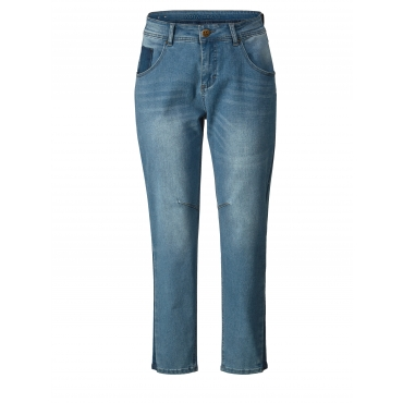 Slim Fit Jeans knöchellang Adia Blau