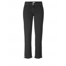 Slim Fit Jeans knöchellang Angel of Style black denim