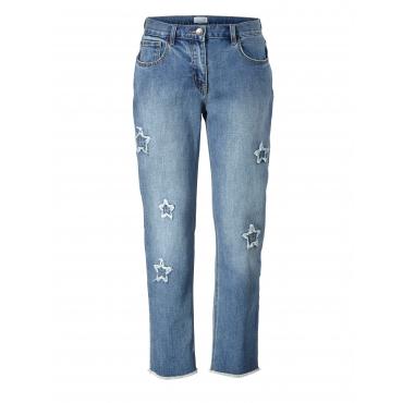 Slim Fit Jeans knöchellang Angel of Style Blau