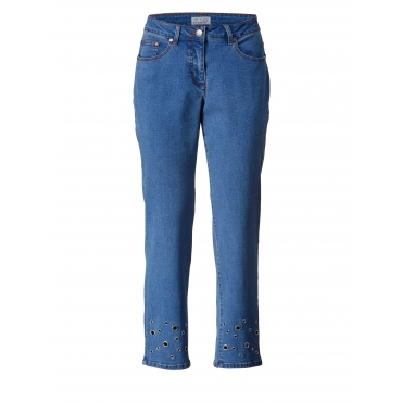 Slim Fit Jeans knöchellang Angel of Style Blau