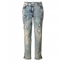 Slim Fit Jeans knöchellang Angel of Style blue bleached
