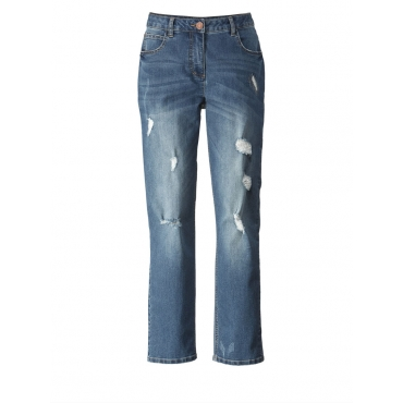 Slim Fit Jeans knöchellang Angel of Style blue stone