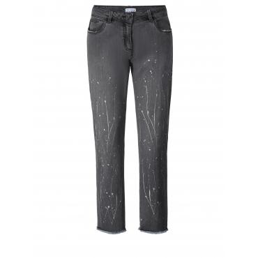 Slim Fit Jeans knöchellang Angel of Style Grau