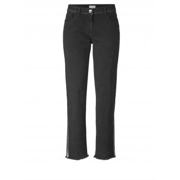 Slim Fit Jeans knöchellang Angel of Style Schwarz