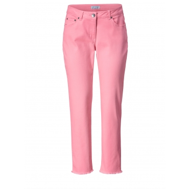 Slim Fit Jeans knöchellang mit Fransen Angel of Style Pink
