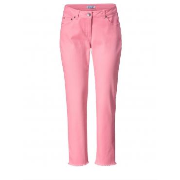 Slim Fit Jeans knöchellang mit Fransen Angel of Style Pink