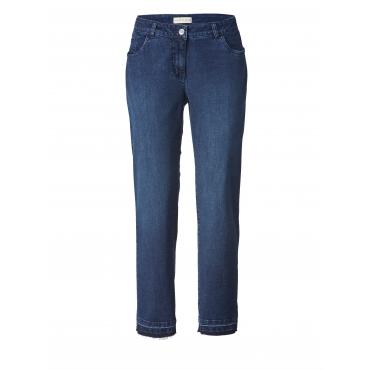 Slim Fit  Jeans knöchellang mit Fransen Janet & Joyce Blau