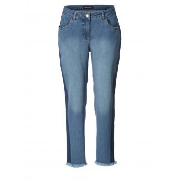 Slim Fit Jeans knöchellang mit Fransensaum Sara Lindholm Blau